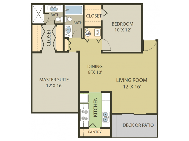 Somerset Floor Plan   2 Bedroom with 2 Bath   998 Square Feet   Fox Point in Old Farm   Apartment Homes
