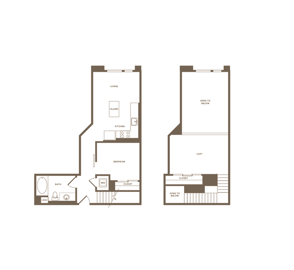 770-820 square foot one bedroom one bath floor plan image