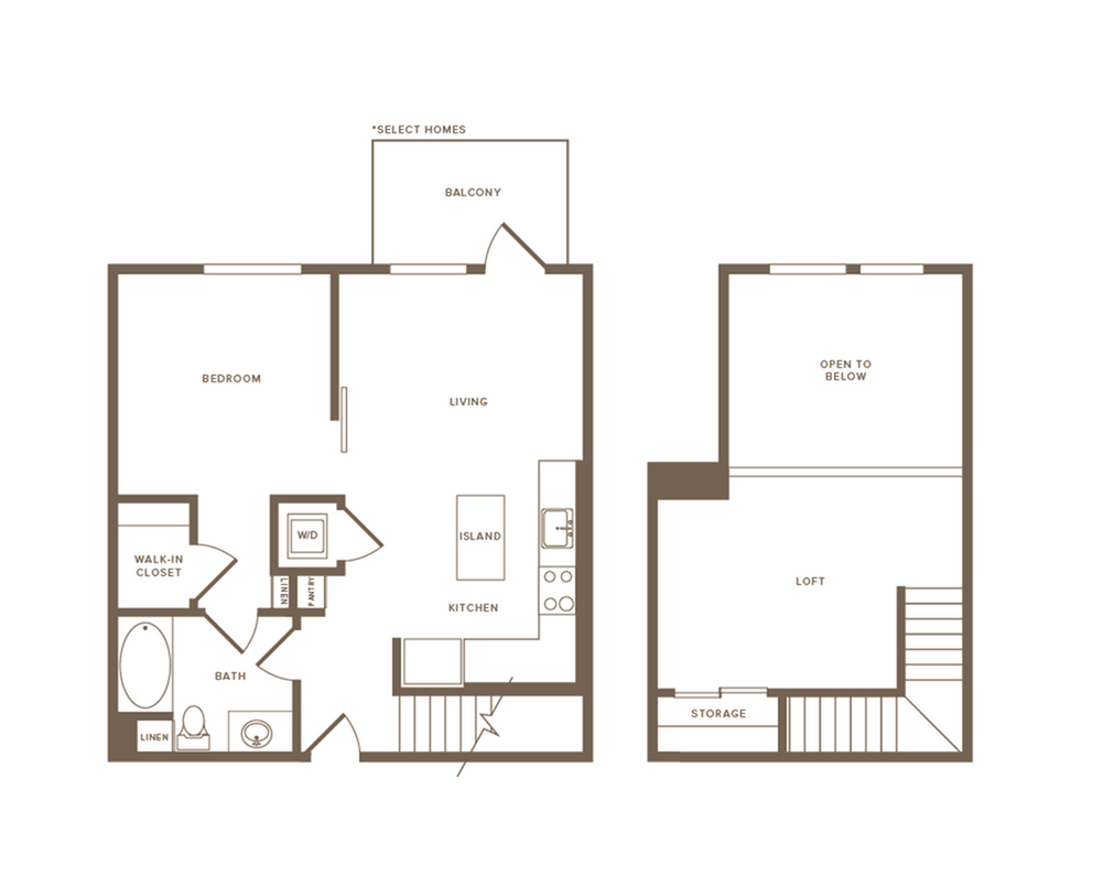 795-908 square foot one bedroom one bath floor plan image