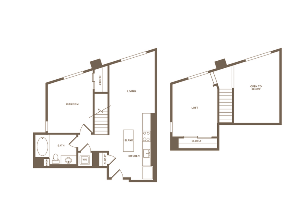 821 square foot one bedroom one bath floor plan image