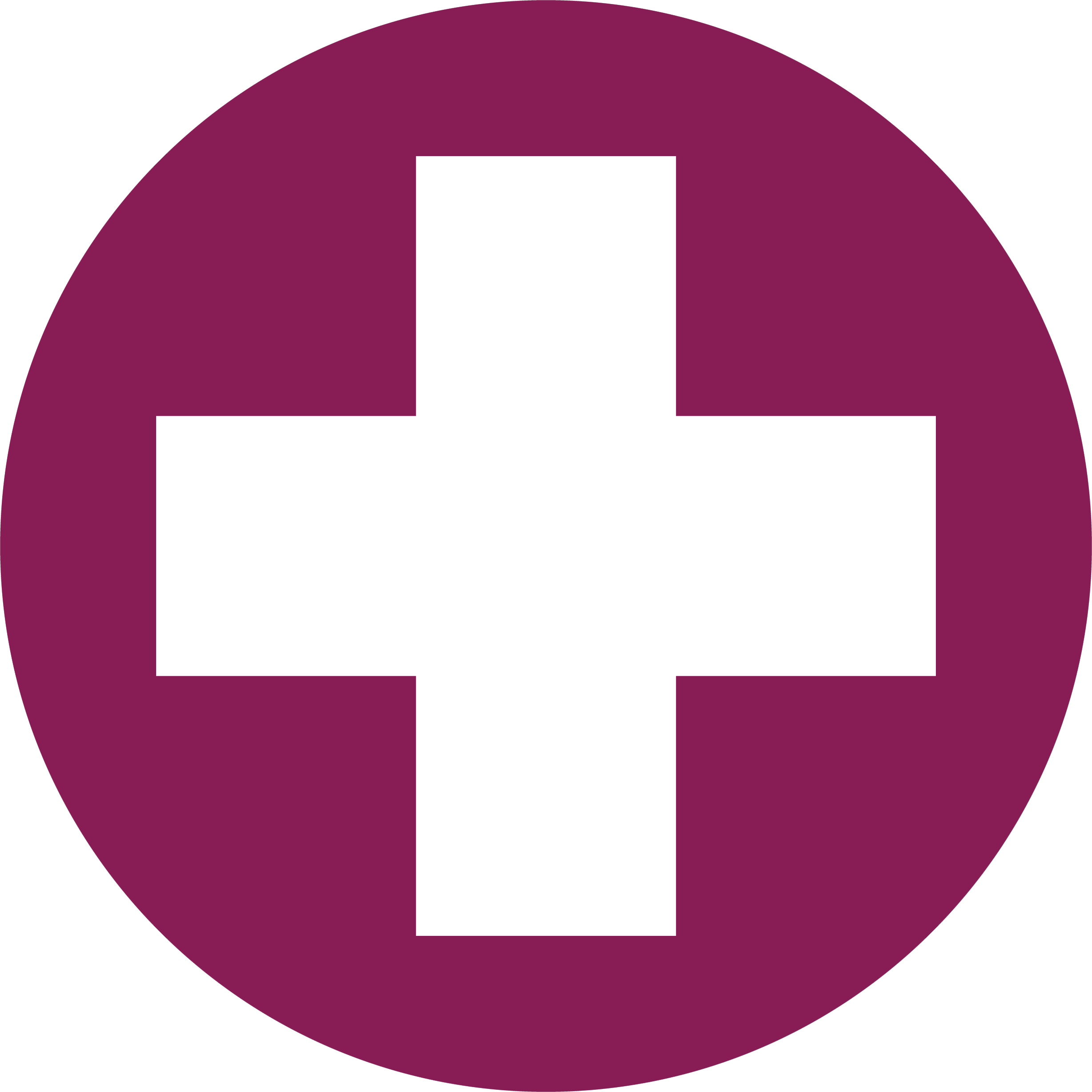 Medical Cross button for COVID-19 Information