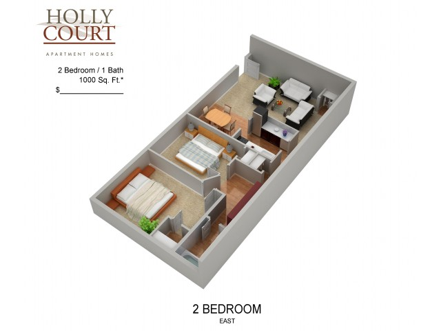 Floor Plan 47 | Apartments In Pitman NJ | Holly Court