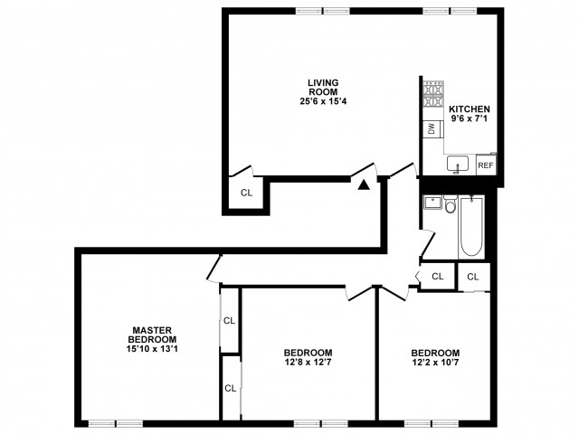 3 Bedroom Floor Plan | Apartments In Hatboro | The Wellington