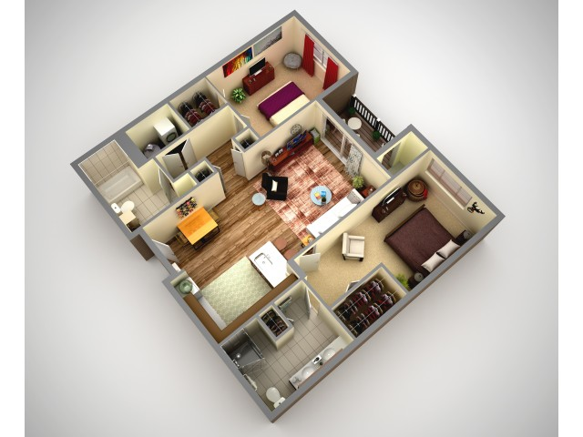 Cosmopolitan 2 Bedroom Apartment In North HIlls Pittsburgh