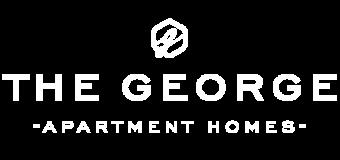 the george logo white
