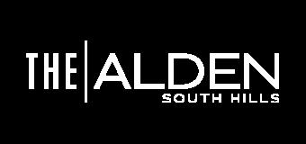 the alden south hills logo white
