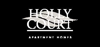 holly court logo white