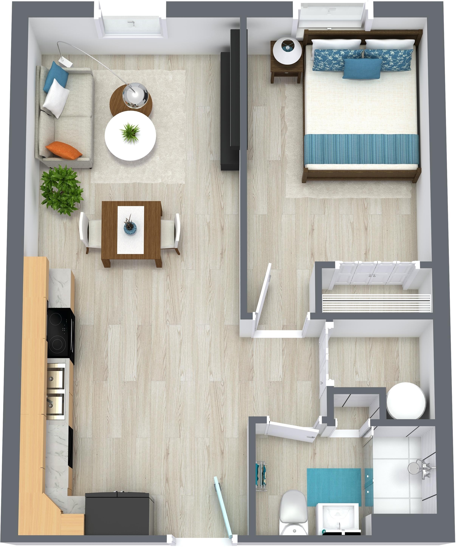 The Walnut - One bedroom, One bathroom