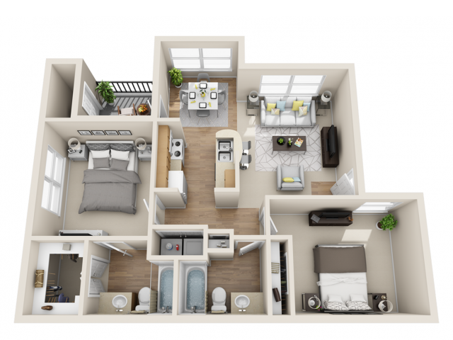 One Two Three Bedroom Apartments In San Antonio Tx
