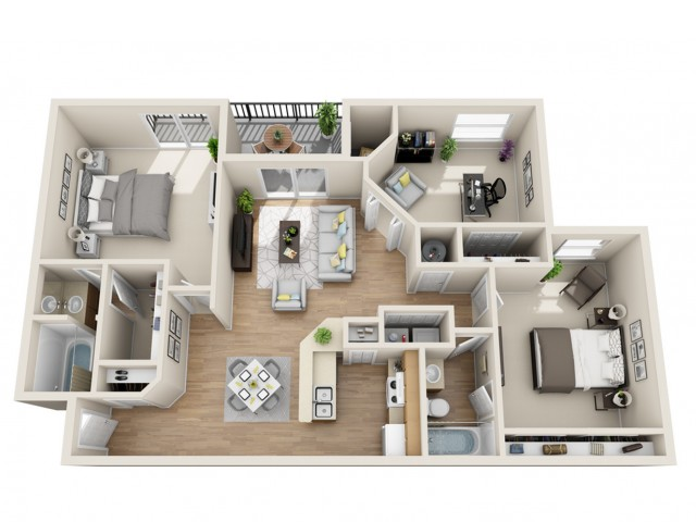 One Two Three Bedroom Apartments In Doraville Ga