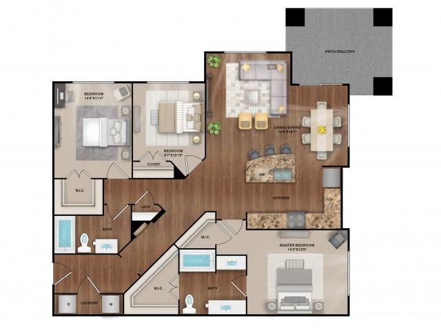 3x2 Floor Plan