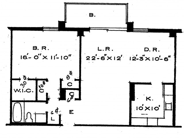 1bdr- 1 bath apartment with West exposure