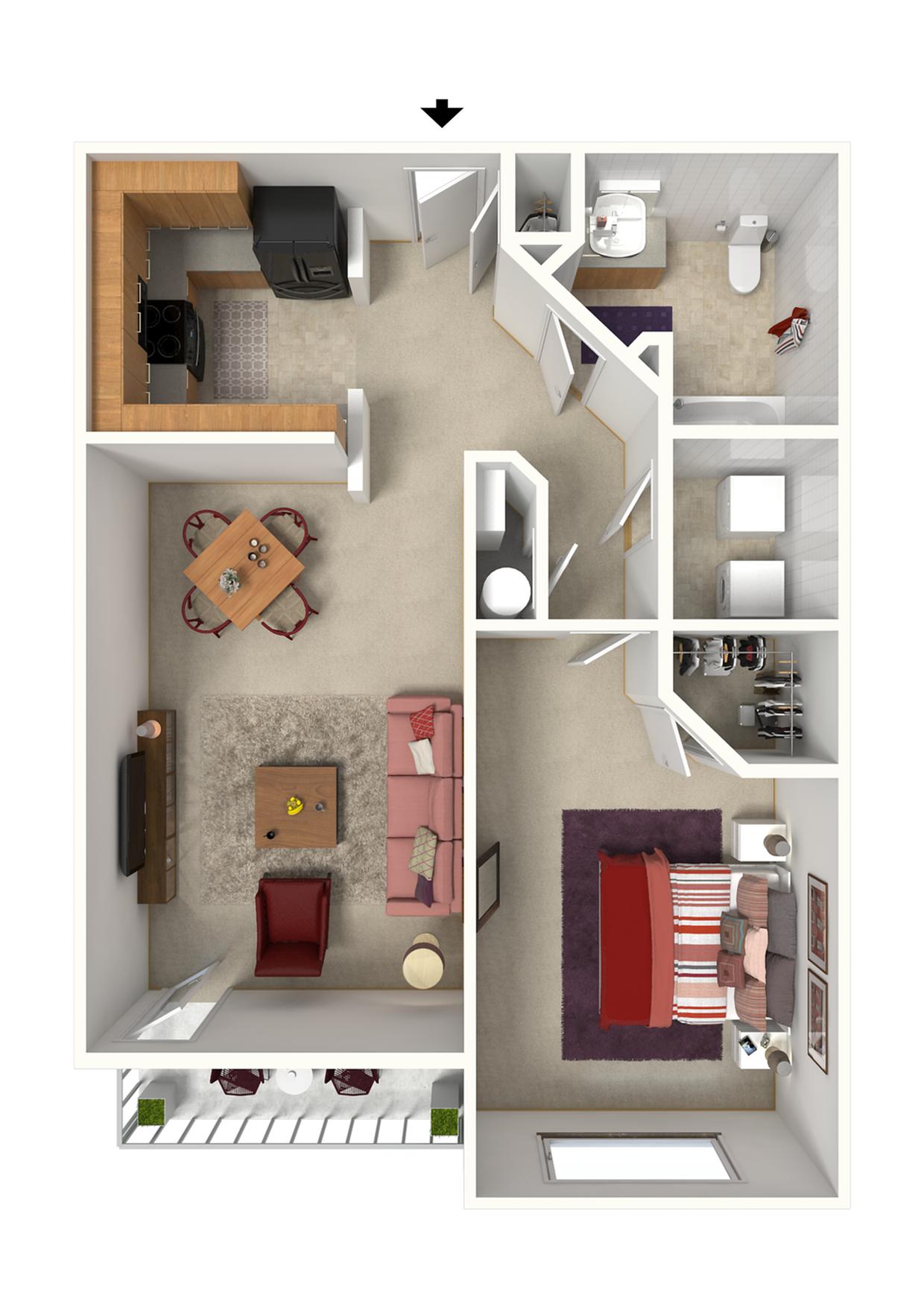 Terrace - x1x - 768 SqFt.