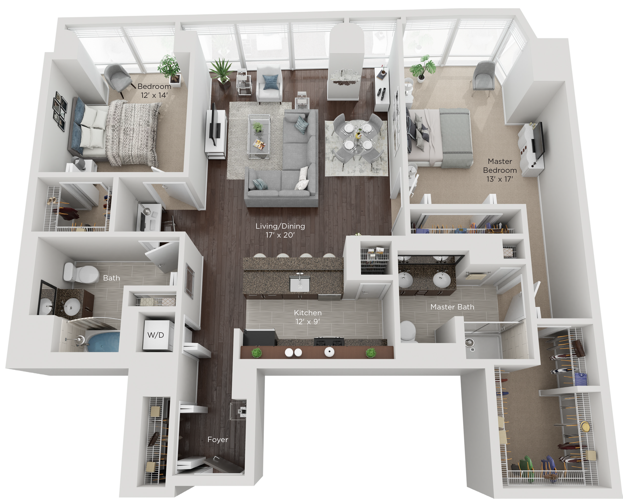 Large Two Bed Style M