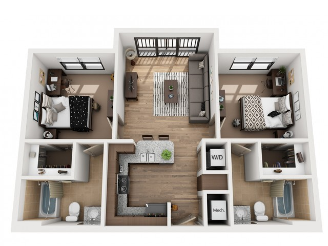 B2 | 2 bed 2 bath | from 859 square feet