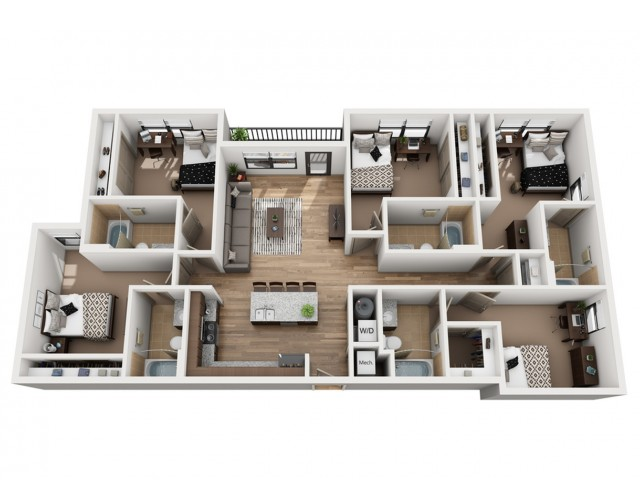 E5   5 bed 5 bath   from 1668 square feet