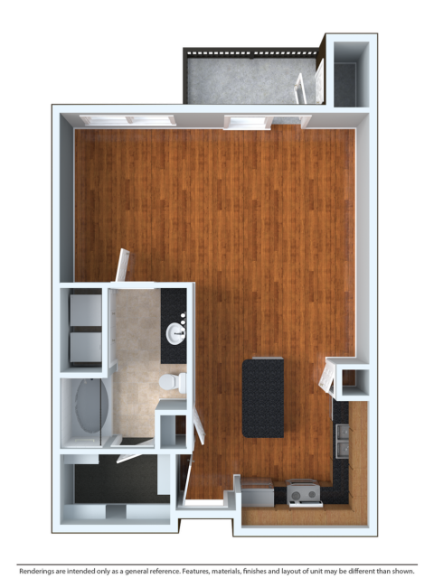 STDO | Studio1 bath | from 665 square feet