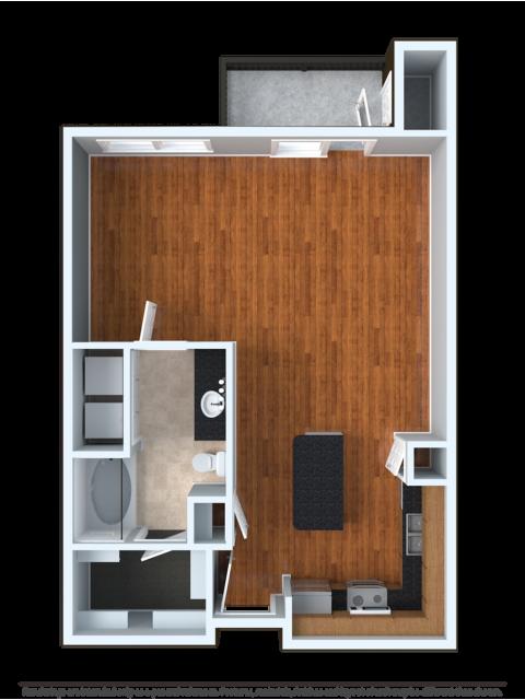 STDOU | Studio1 bath | from 665 square feet