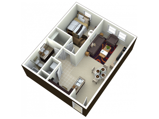 1X1 | 1 bed 1 bath | from 680 square feet