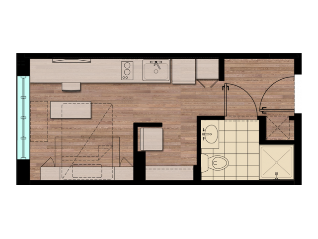 STDIO | Studio1 bath | from 266 square feet