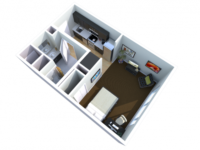 studio | Studio1 bath | from 379 square feet