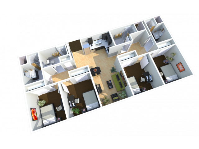 4x4   4 bed 4 bath   from 1300 square feet