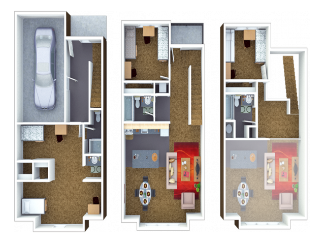 6 Person Townhome