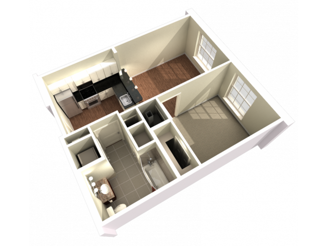 1 Bedroom 1 Bathroom Large