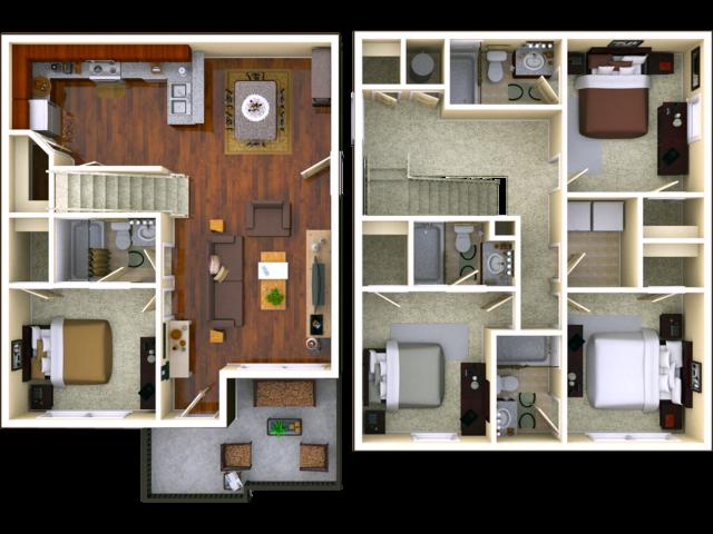 Courtyard 4 bedroom