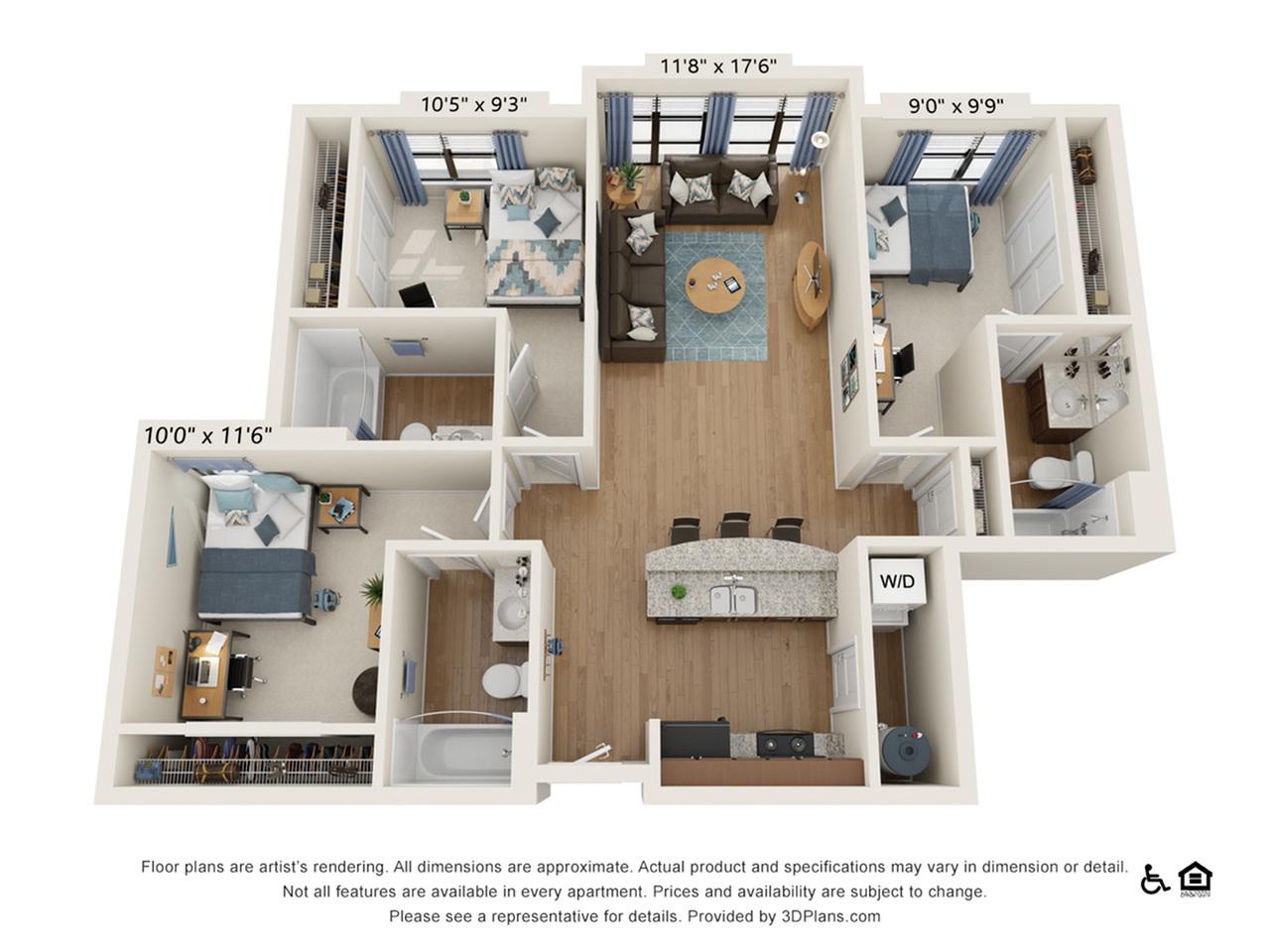 3 Bedroom 3 Bathroom D