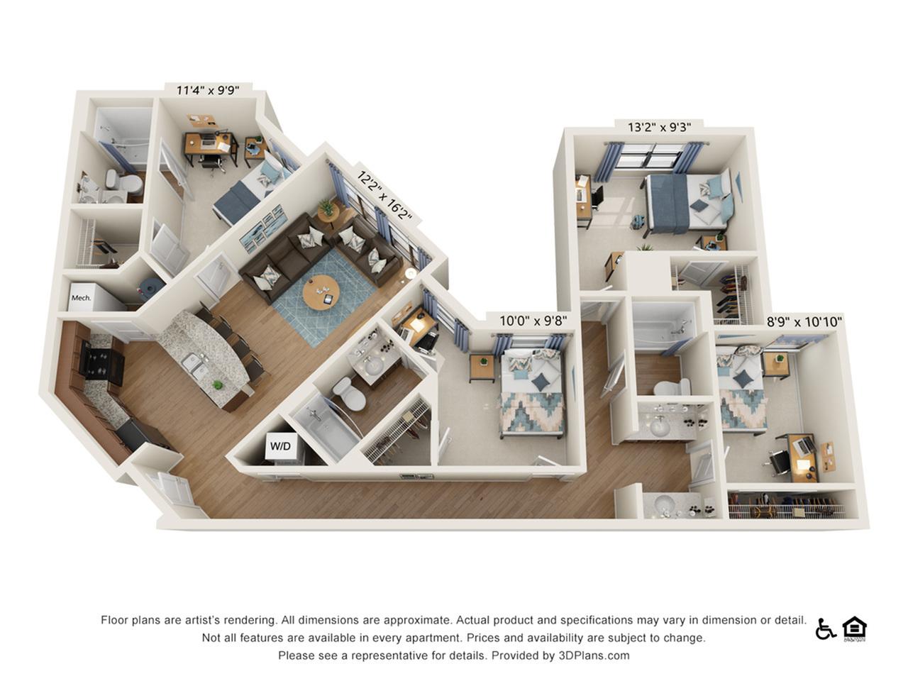 4 Bedroom 3 bathroom A