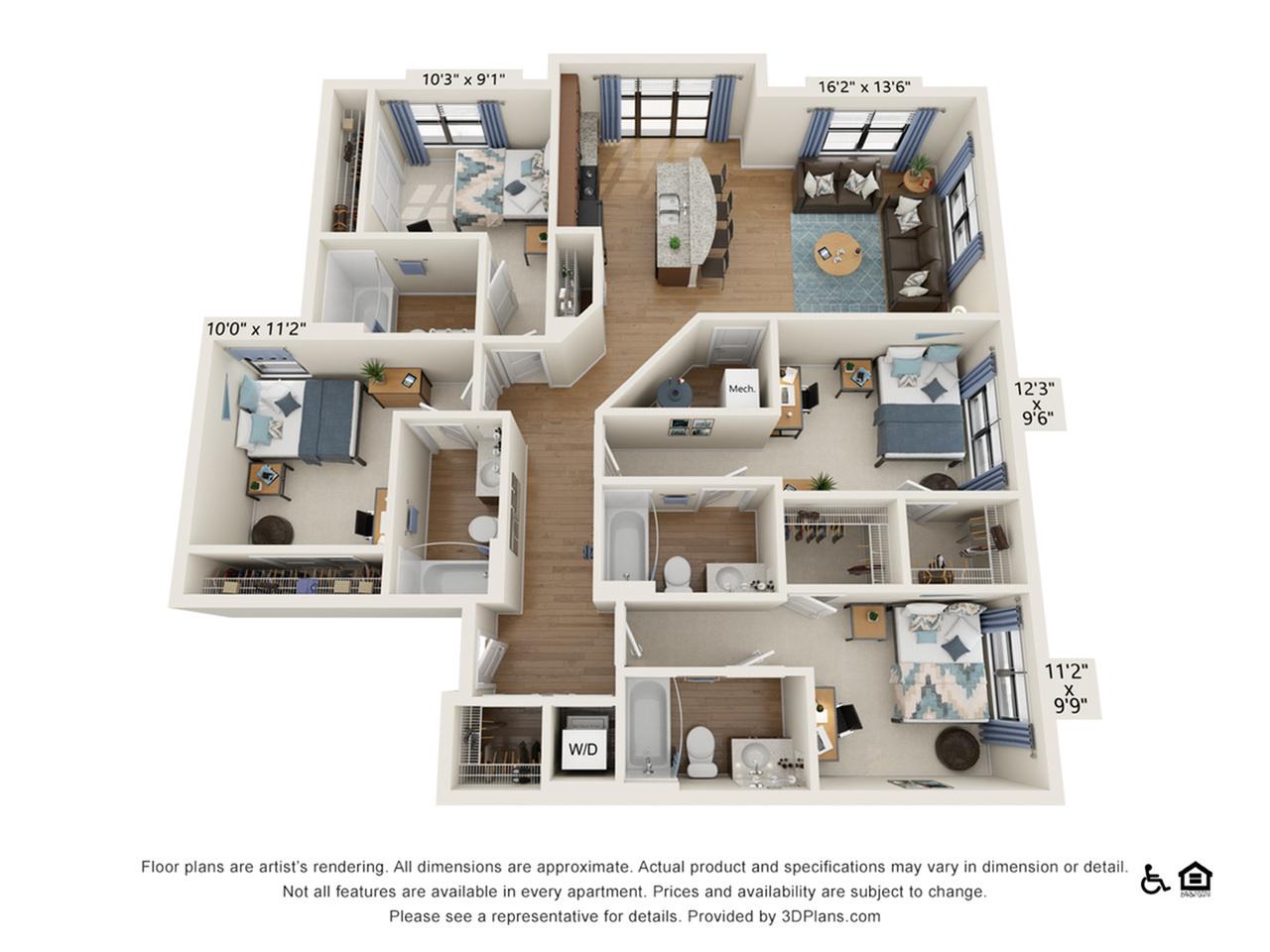 4 Bedroom 4 Bathroom B