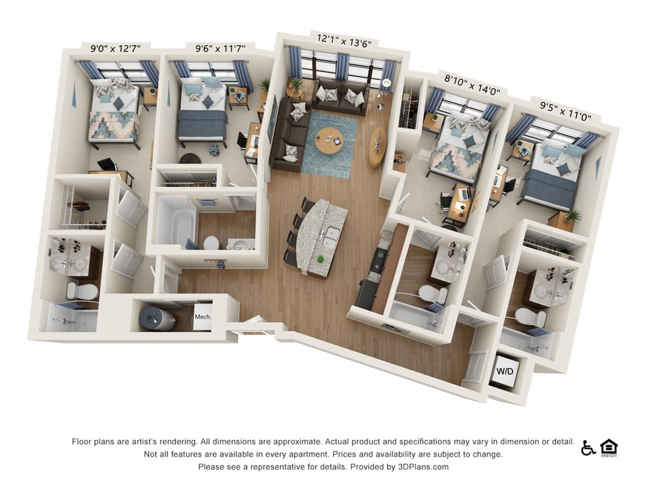 4 Bedroom 4 Bathroom A