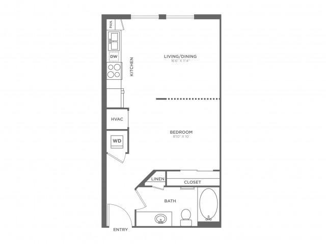Retna | Studio1 bath | from 514 square feet