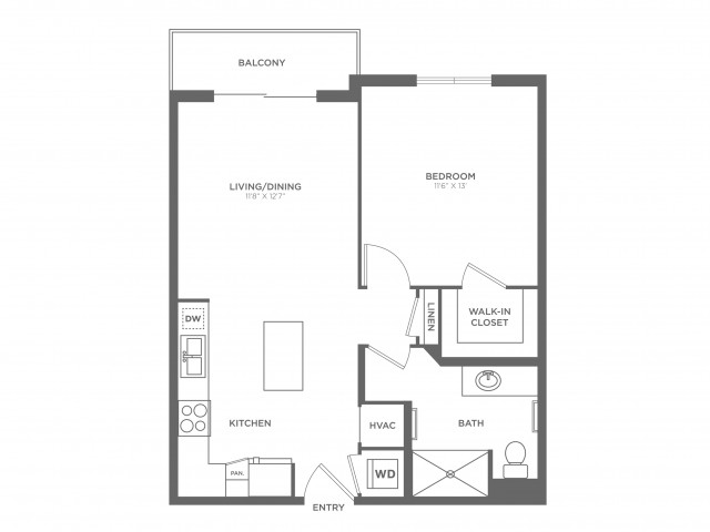 Dali | 1 bed 1 bath | from 660 square feet