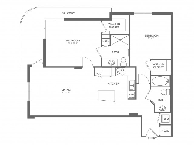 Daze | 2 bed 2 bath | from 1070 square feet
