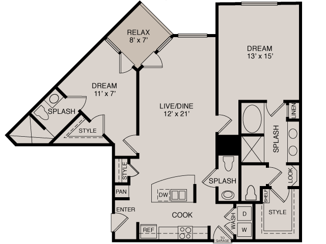 B1 2-2 | 2 bed 3 bath | from 1205 square feet