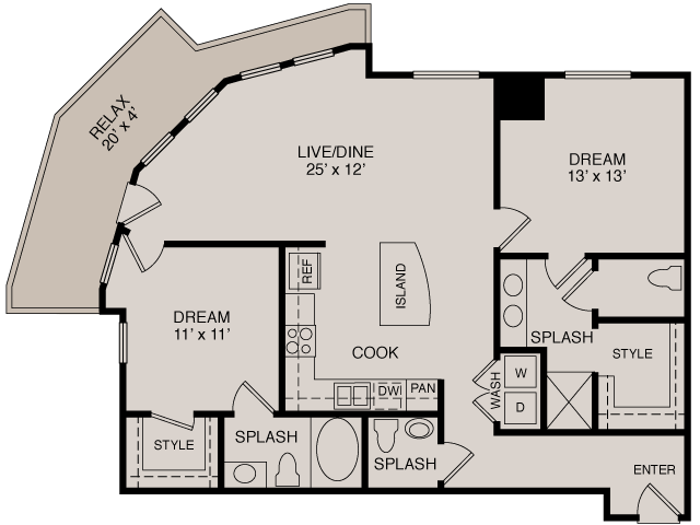 B2 2-2 | 2 bed 3 bath | from 1177 square feet