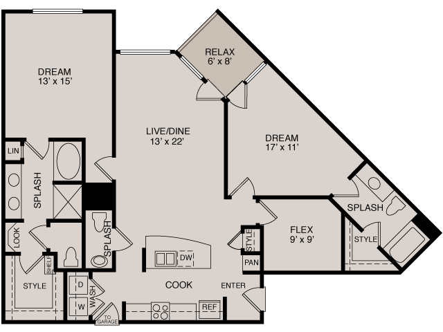 C4 2-2 | 2 bed 3 bath | from 1403 square feet
