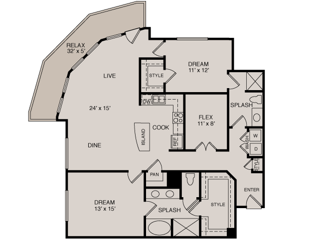 C5 2-2 | 2 bed 2 bath | from 1466 square feet