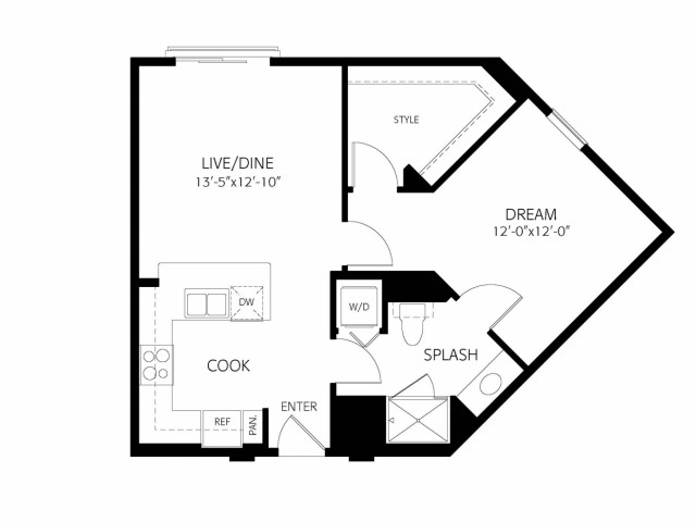 The Clarkson | 1 bed 1 bath | from 693 square feet