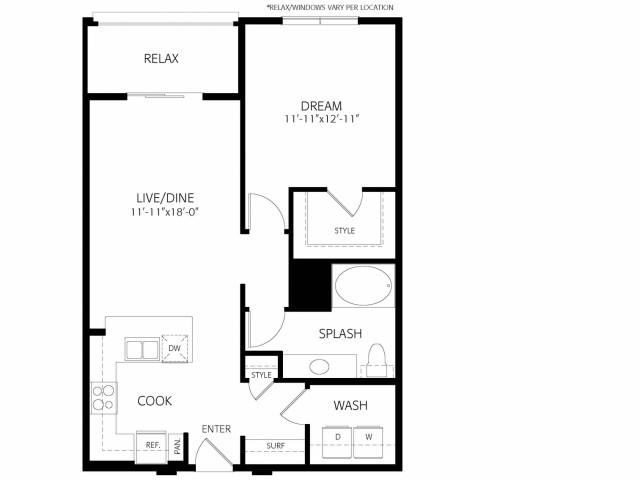 The Henley | 1 bed 1 bath | from 817 square feet