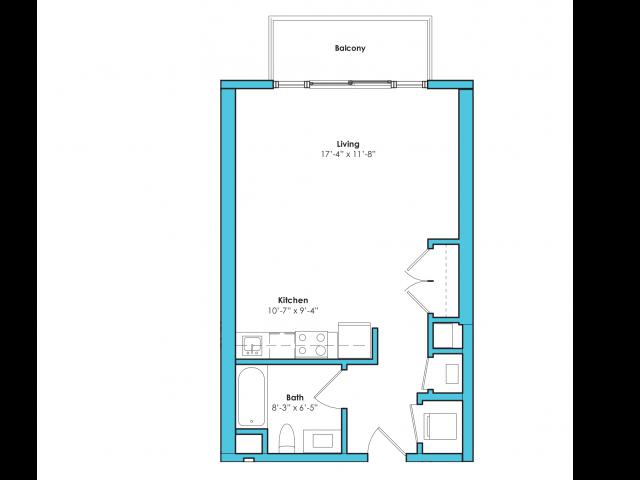 o-sa | Studio1 bath | from 535 square feet