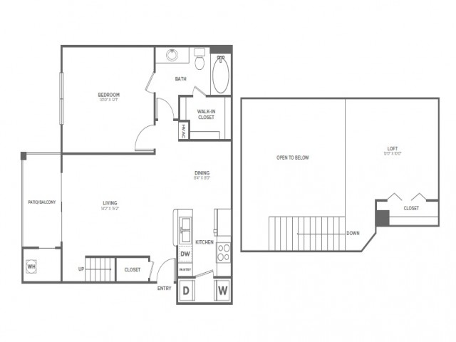 A4 | 1 bed 1 bath | from 957 square feet