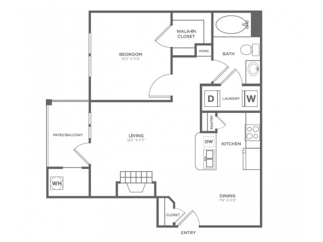 A1 | 1 bed 1 bath | from 703 square feet