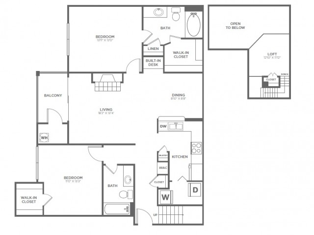 B5 | 2 bed 2 bath | from 1366 square feet