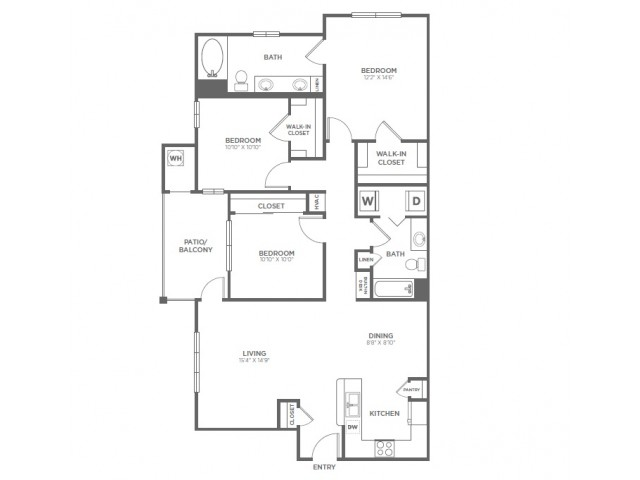 C1 | 3 bed 2 bath | from 1340 square feet