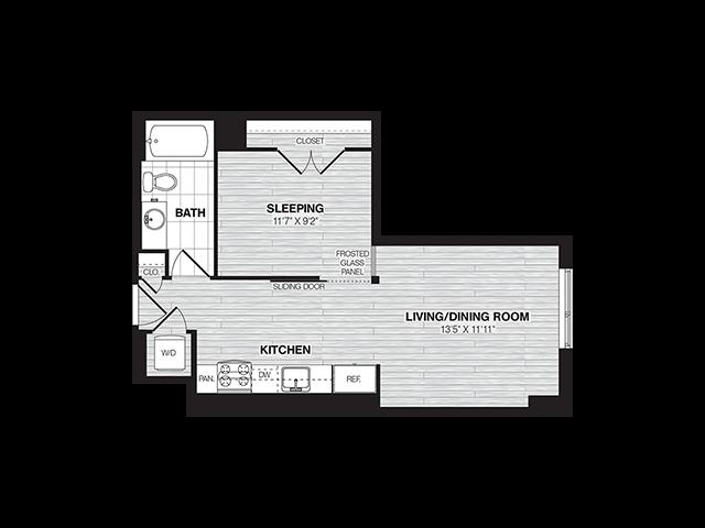 S1 | Studio1 bath | from 554 square feet