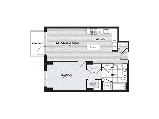 A1B | 1 bed 1 bath | from 750 square feet