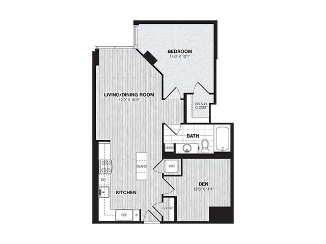 AD1 | 1 bed 1 bath | from 821 square feet